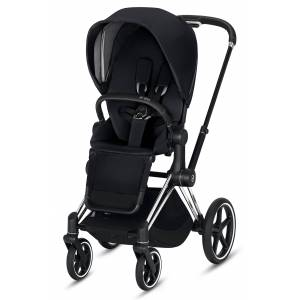 CYBEX Infant Cybex E-Priam Chrome Electronic Stroller With All Terrain Wheels, Size One Size - Black