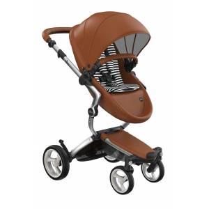 mima Infant Mima Xari 2020 Silver Chassis Stroller With Reversible Reclining Seat & Carrycot, Size One Size - Brown
