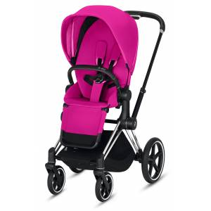 CYBEX Infant Cybex E-Priam Chrome Electronic Stroller With All Terrain Wheels, Size One Size - Pink