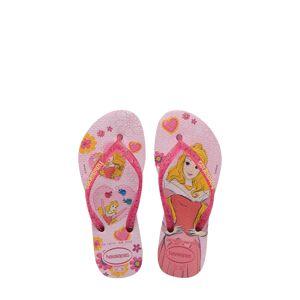 Havaianas Girl's Havaianas Disney Princess Flip Flop, Size 3/4 M - Pink