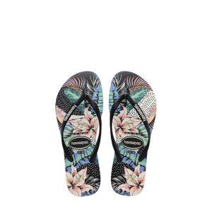 Havaianas Girl's Havaianas Slim Animal Flip Flop, Size 13 M - Black