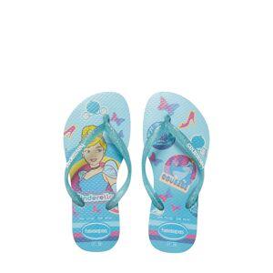 Havaianas Girl's Havaianas Disney Princess Flip Flop, Size 2 M - Blue