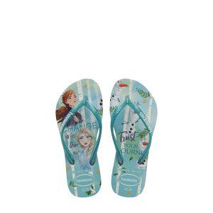 Havaianas Girl's Havaianas Slim Frozen Flip Flop, Size 2 M - White