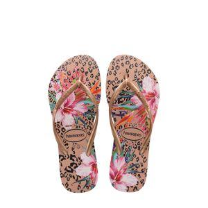 Havaianas Girl's Havaianas Slim Animal Floral Sandal, Size 2 M - Metallic