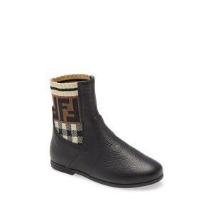 Fendi Girl's Fendi Sock Bootie, Size 1US - Black