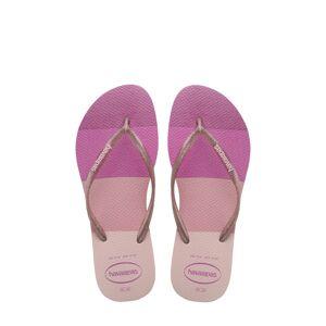Havaianas Girl's Havaianas Slim Palette Glow Flip Flop, Size 2 M - Pink