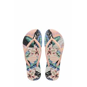 Havaianas Girl's Havaianas Slim Animal Flip Flop, Size 2 M - Pink