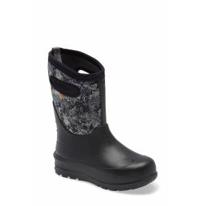 Bogs Boy's Bogs Neo Classic Insulated Waterproof Boot, Size 2 M - Black