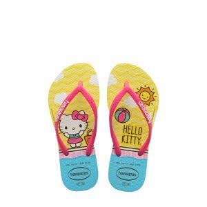Havaianas Girl's Havaianas Hello Kitty Slim Flip Flop, Size 2 M - Pink