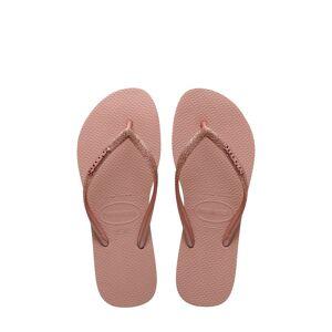 Havaianas Girl's Havaianas Slim Glitter Flip Flop, Size 2 M - Pink