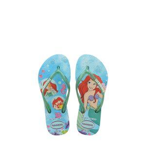 Havaianas Girl's Havaianas Disney Princess Flip Flop, Size 3/4 M - Blue