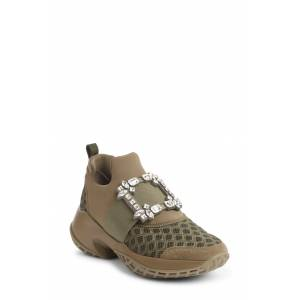 Roger Vivier Women's Roger Vivier Viv Run Slip-On Sneaker, Size 5US - Green