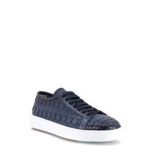 Santoni Men's Santoni Byam Low Top Sneaker, Size 9.5 D - Blue