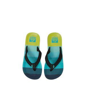 Reef Boy's Reef Ahi Flip Flop, Size 2/3 M - Blue/green