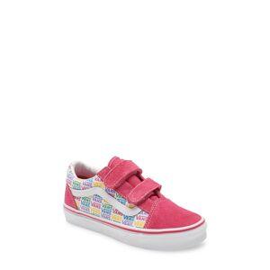 Vans Girl's Vans Old Skool V Sneaker, Size 3 M - Pink