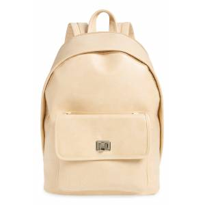 Beis The 2-In-1 Faux Leather Backpack - Beige