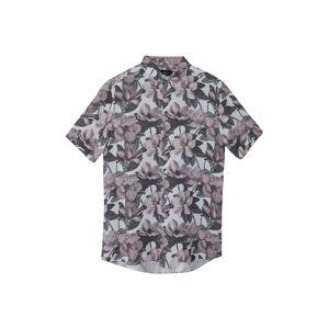 Topman Men's Topman Magnolia Slim Fit Floral Short Sleeve Button-Up Shirt, Size X-Large - Grey