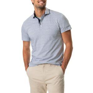 Rodd & Gunn Men's Rodd & Gunn Big River Stripe Polo Shirt, Size Medium - Blue