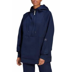 adidas by Stella McCartney Women's Adidas By Stella Mccartney Half Zip Hoodie, Size Medium - Blue