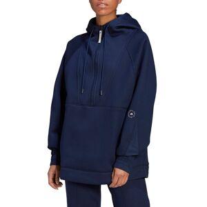 adidas by Stella McCartney Women's Adidas By Stella Mccartney Half Zip Hoodie, Size Large - Blue