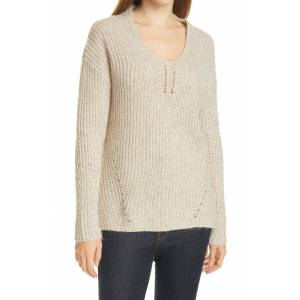 Ted Baker Women's Ted Baker London Rielliaa V-Neck Sweater, Size 1 - Brown