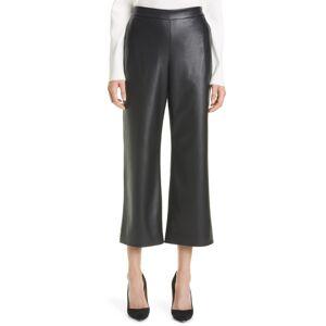 Boss Women's Boss Taomie Faux Leather Crop Wide Leg Pants, Size 8 - Black
