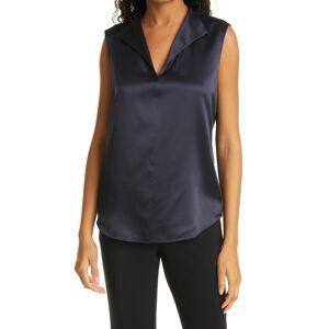 Boss Women's Boss Iolisa Sleeveless Stretch Silk Blouse, Size 6 - Blue