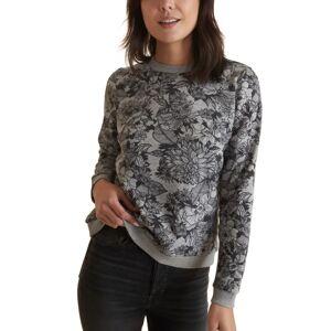 Marine Layer Women's Marine Layer Floral Print Sweatshirt, Size Small - Grey