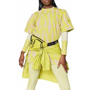 adidas by Stella McCartney Women's Adidas By Stella Mccartney Print Oversize T-Shirt, Size X-Small - Yellow