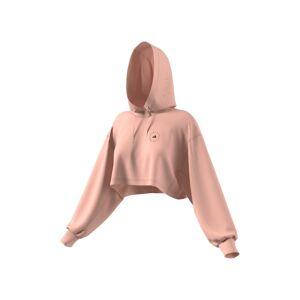 adidas by Stella McCartney Women's Adidias By Stella Mccartney Crop Hoodie, Size XX-Small - Coral