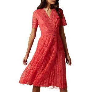 Ted Baker Women's Ted Baker London Sonyyia Faux Wrap Dress, Size 4 - Pink
