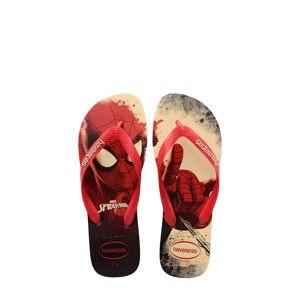 Havaianas Boy's Havaianas Top Marvel Flip Flop, Size 13/1 M - Red