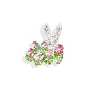CRISTABELLE Women's Cristabelle Peek-A-Boo Bunny Pin