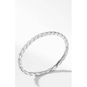 David Yurman Women's David Yurman Paveflex Bracelet With Diamonds In White Gold, 5mm