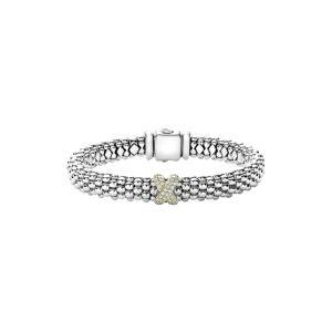 LAGOS Women's Lagos Diamond Lux Single Station X Bracelet