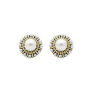LAGOS Women's Lagos Luna Cultured Pearl Stud Earrings
