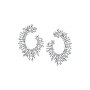 Hueb Women's Hueb Luminus Diamond Hoop Earrings