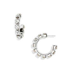 Area Women's Area Small Round Crystal Hoop Earrings