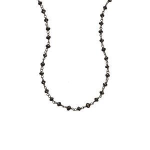 Sethi Couture Women's Sethi Couture Black Diamond Wire Wrap Chain Necklace