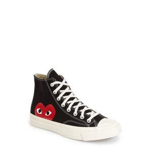 Comme des Garcons Men's Comme Des Garcons Play X Converse Chuck Taylor Hidden Heart High Top Sneaker, Size 8 M - Black