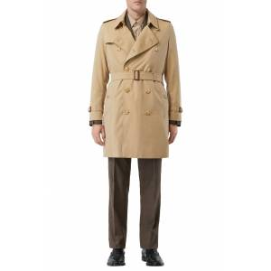 Burberry Men's Burberry Kensington Mid Trench Coat, Size 36 - Beige