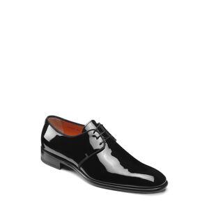 Santoni Men's Santoni Isogram Plain Toe Derby, Size 10 D - Black