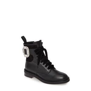 Roger Vivier Women's Roger Vivier Viv Rangers Buckle Boot, Size 12US - Black
