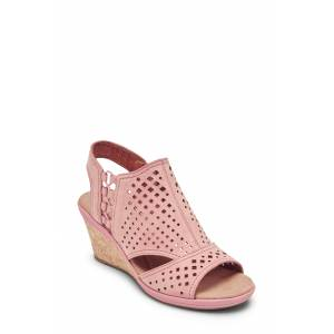 Rockport Cobb Hill Women's Rockport Cob Hill Janna Wedge Sandal, Size 8 M - Pink