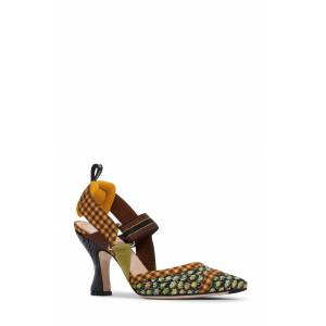 Fendi Women's Fendi Colibri Pointed Toe Slingback Pump, Size 7US - Green