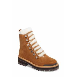 Marc Fisher LTD Women's Marc Fisher Ltd Izzie Genuine Shearling Lace-Up Boot, Size 6.5 M - Brown