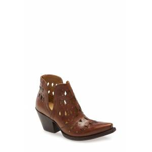 Ariat Women's Ariat Dixon Perforated Studded Bootie, Size 7.5 M - Brown