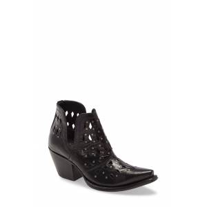 Ariat Women's Ariat Dixon Perforated Studded Bootie, Size 7.5 M - Black