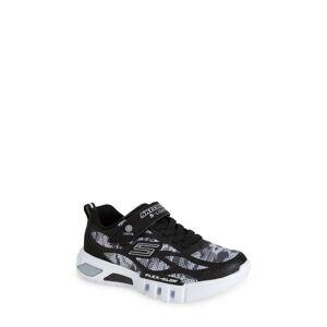 SKECHERS Boy's Skechers Flex-Glow Light-Up Sneaker, Size 13 M - Black