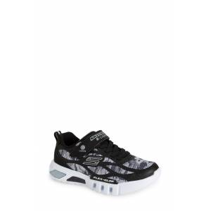 SKECHERS Boy's Skechers Flex-Glow Light-Up Sneaker, Size 2 M - Black